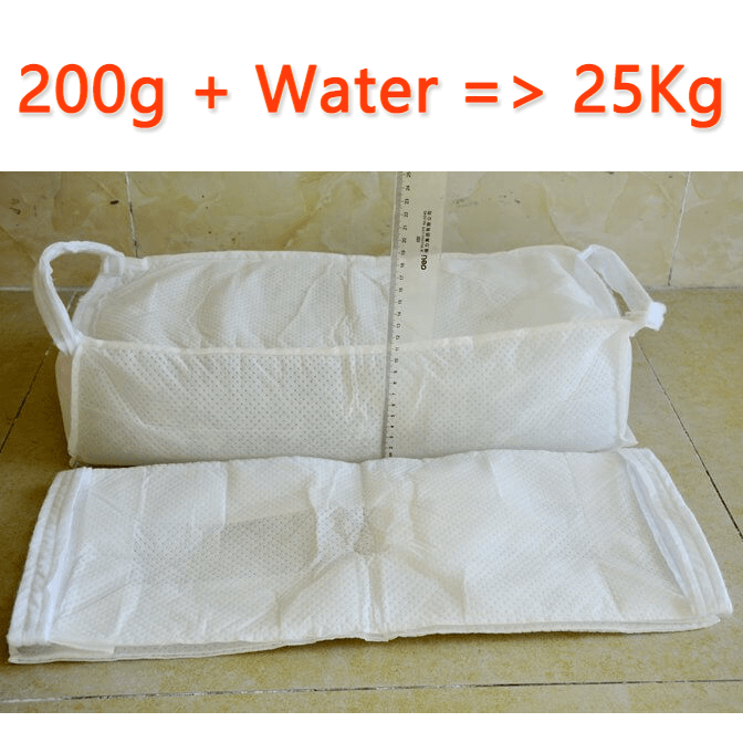 Factory price absorbent polymer sand-free sandbags absorbing water swelling sandbags flood control sandbags