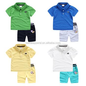 f0aba99ffb06 Factory Supply Baby Boy T-shirts and Short Pants Set Kids Polo Tshirt Boys  Shirts