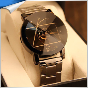 Japan movement stainless steel back water resistant watch , brand logo watch