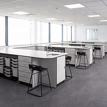Mobiliario escolar/Sistema configurable combinación de escritorios de estudiantes para sala de entrenamiento