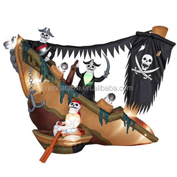 inflatable halloween decorative pirate ship 8' x 11'