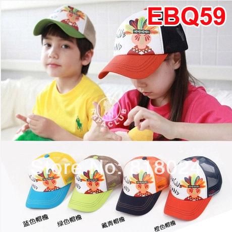 2014 New Fashion Spring and Summer Baby Baseball Caps Kids Mesh Cap Boys Girls Sunbonnet Sun
