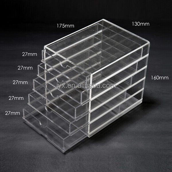 Desktop 130*175*160mm clear acrylic makeup organizers for store or home