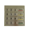 IP65 aging resistant breadboard USB numeric stainless keypad with 12 metal keys B25