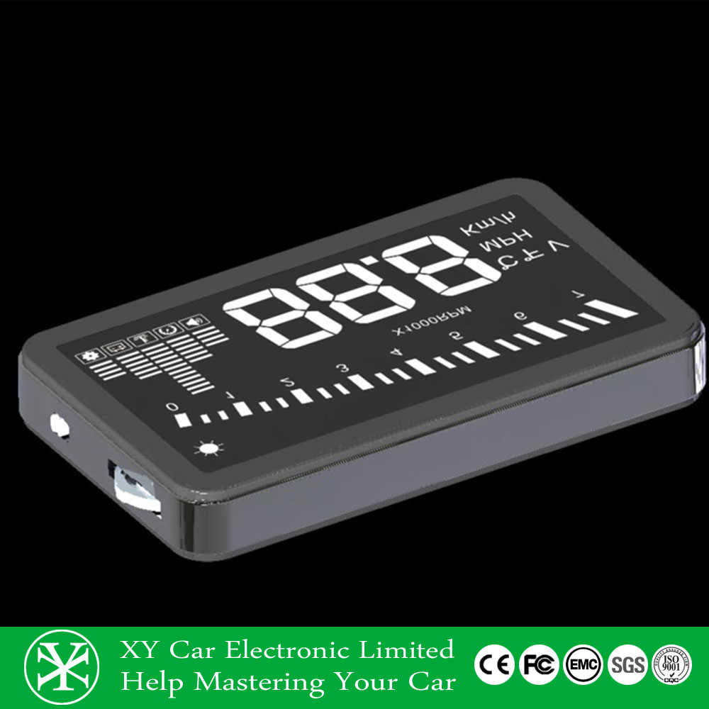 Car hud head up display , vehicle safety with obd connector case ,speed limit XY-HUD205