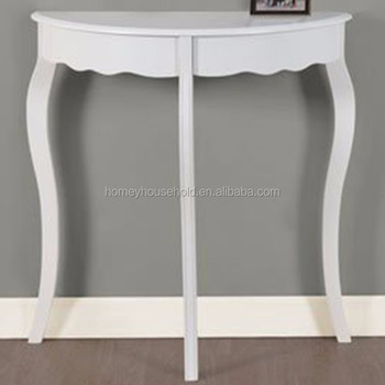 Solid Wood Console Table Mdf Half Moon Accent Hallway Furniture Product On Alibaba