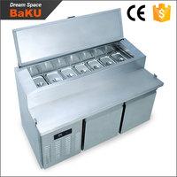 Commercial catering equipment undercounter top freezer refrigerators