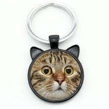 TAFREE брелок для кошачьих ушек, милый модный стеклянный брелок для ключей в стиле стимпанк, рождественский подарок для мужчин и женщин, ювелир...(Китай)
