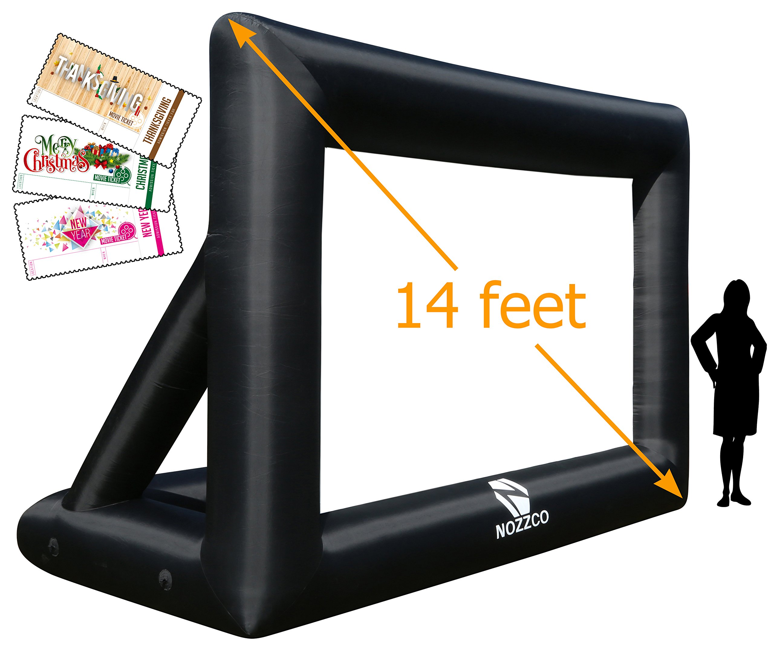 14ft inflatable movie screen with printable party theme movie ticket templates portable lightweight fully