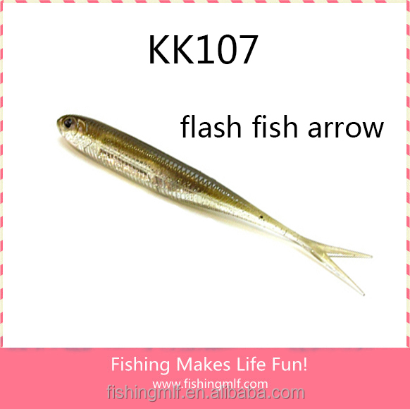 KK107 73mm New Coming Flash Fish Arrow Soft Plastic Lures
