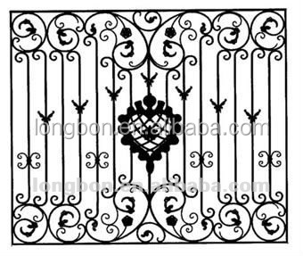 Wrought Iron Metal Window Grills, Wrought Iron Metal Window Grills ...