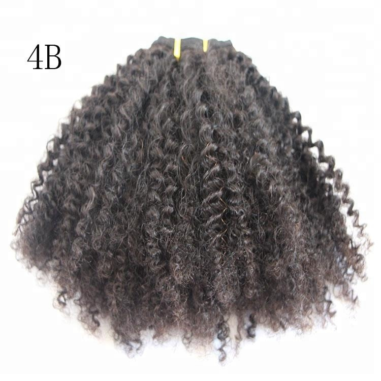 Natural Color High Quality 4a Ab Ac Afro Kinky Curly Hair For Sale
