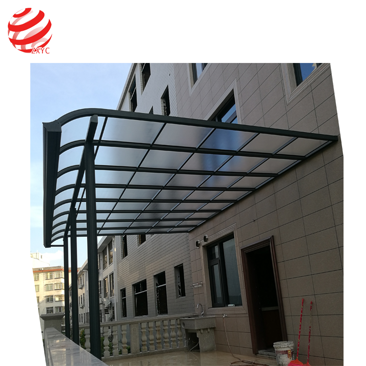 Window and front door canopy for balcony/patio/gazebo awnings with strong alu bracket