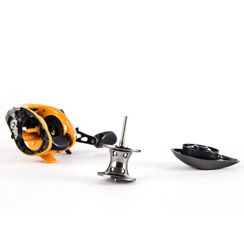 Baitcasting Fishing Reel 8+1BB Left / Right Hand Fishing Wheel Bait Casting Fishing Reel, Yellow+black grey + orange