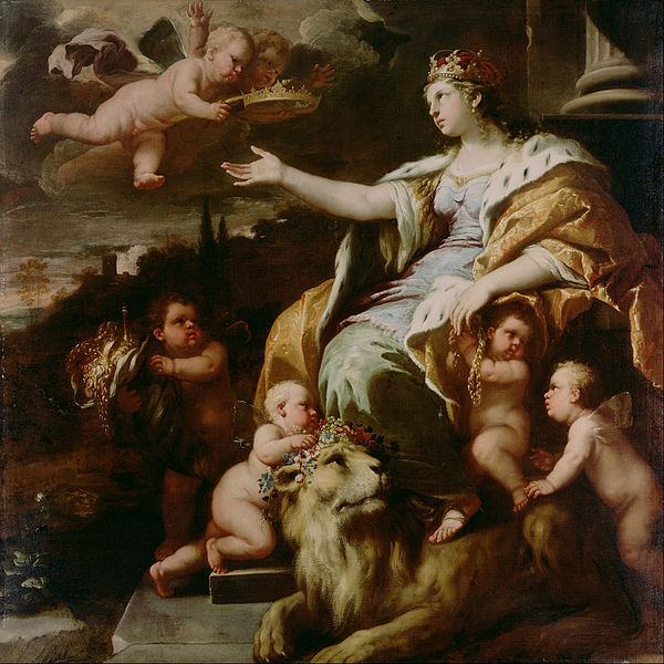 Canvas Art Prints Stretched Framed Giclee Famous Artist Oil Painting Luca Giordano <font><b>Italian</b></font> Neapolitan Allegory Of Magnanimity