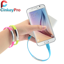 Universal Bracelet Mobile Phone Cables For Charger ios Data  Micro USB Cable For Samsung Galaxy S3 S4 S6 HTC Android