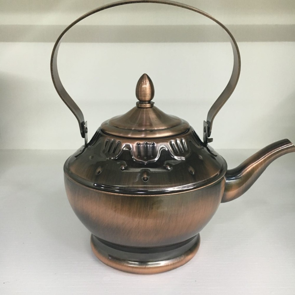 Wholesale chinese tea kettle for camping copper plated brew kettle stainless steel