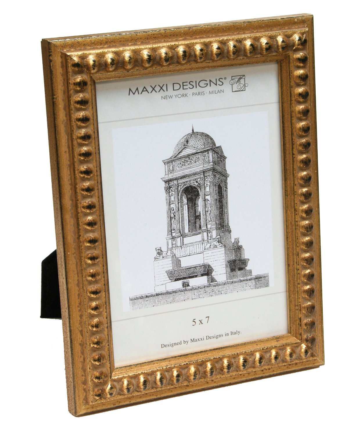 Buy Maxxi Designs C28002-57 Arezzo Antique Gold frame with Beads, 5 ...