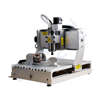 China 3 axis mini 6040 2.2Kw cnc milling 4 Axis machine for copper aluminum steel curving engraving good price
