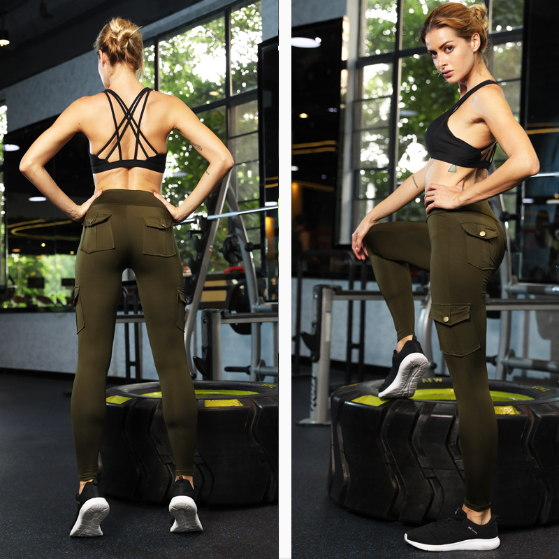 Wholesale New Design Elastic Tight Women Peach Hip High Waist Quick Dry Running Pants Yoga Leggings
