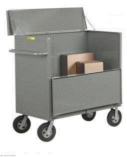 """Little Giant Products - Div. O, Security Box Truck With Solid Sides With 10"""" X 2 3/4"""" Solid Rubber Casters, 10X2-2448, Deck Size: 24 X 48, Capacity: 1500 Lbs., Weight: 284 #, Sbs-2448-10Sr"""