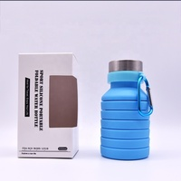 Hot Top selling summer Product eco-friendly outdoor Collapsible Reusable new idea design 550ml collapsible Water Bottle