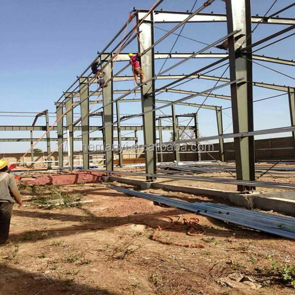 prefab steel structure building for workshop and warehouse