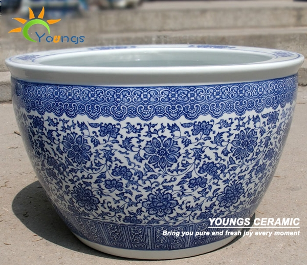 Wholesale Indoor And Outdoor Large Chinese Blue White Ceramic