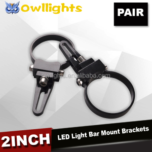 Pair of 2Inch O Type Led Light Bar Mounts Bracket Bull Bar Clamps Mounting Brackets