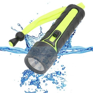 Outdoor portable waterproof 1W LED underwater scuba flashlight flash light diving torch light