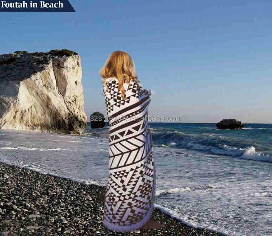 Towel Stock Lots: Promocional Toalla Redonda Playa De Valores Mucho-Toalla