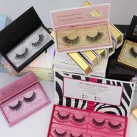 3D Mink Eyelashes Factory Russian Volume Fan Own Brand Eyelash Box False Eyelash Packaging