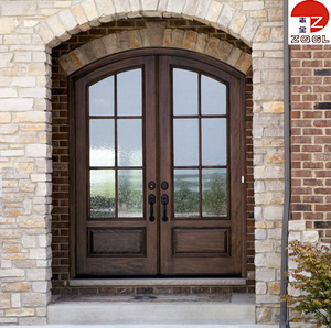 Steel Double Arch Top Entry Doors