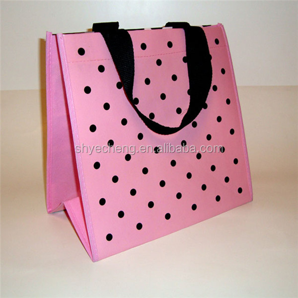 Pink colorful tnt promotional shopping non woven tote bag