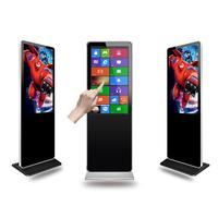 Best price indoor touch screen wifi 4g floor standing lcd digital signage with android or widnows os