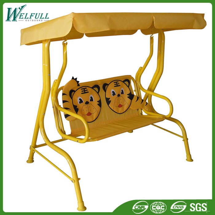 Outdoor Garden Furniture Two Seat Patio Swing, Two Seat Outdoor Swing,  Child Canopy Swing