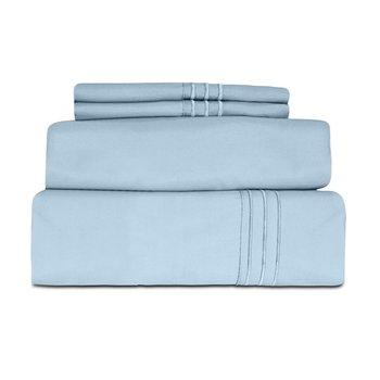 Microfiber 1800 Series Solid Luxury Bed Sheet Set