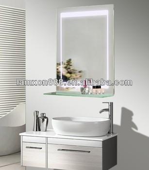 led hintergrundbeleuchtung glas badezimmer spiegel mit ablage buy spiegel mit led. Black Bedroom Furniture Sets. Home Design Ideas