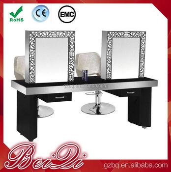 Sal n de belleza espejos estaciones de estilo doble lados for Espejos horizontales para salon