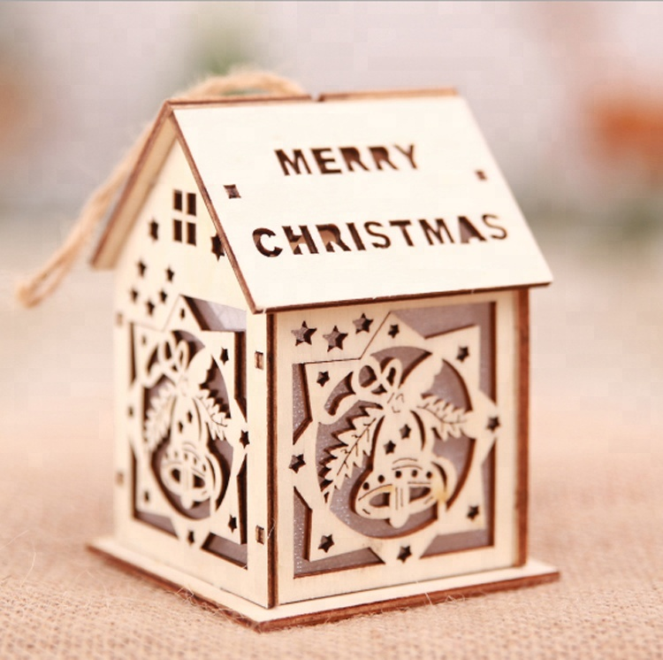 Wood Sculpture Tree Sheep People 3D Christmas Home Decor Assembling Toy Welcome