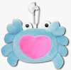 Blue Crab Heart Soft Plush Stuffed Animal Keychain Suction Cup Cute Toy New 3""
