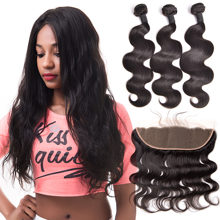 Wholesale virgin hair vendors brazilian hair with frontal closure body wave cuticle aligned hair фото