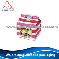 House shape Coated paper window cupcake box / special paper cake box / designed paper window cake box