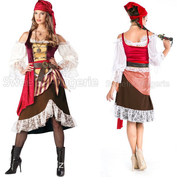 Buy Vantage Women Pirate Costumes Women Halloween Sexy Costumes Female Cosplay Costume White And Red Striped Dress Costume in Cheap Price on m.alibaba.com  sc 1 st  Alibaba : cheap pirate halloween costumes  - Germanpascual.Com