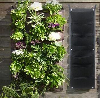 Etonnant Vertical Wall Garden Planter, 7 Pockets, Felt Wall Mount Planter Solution