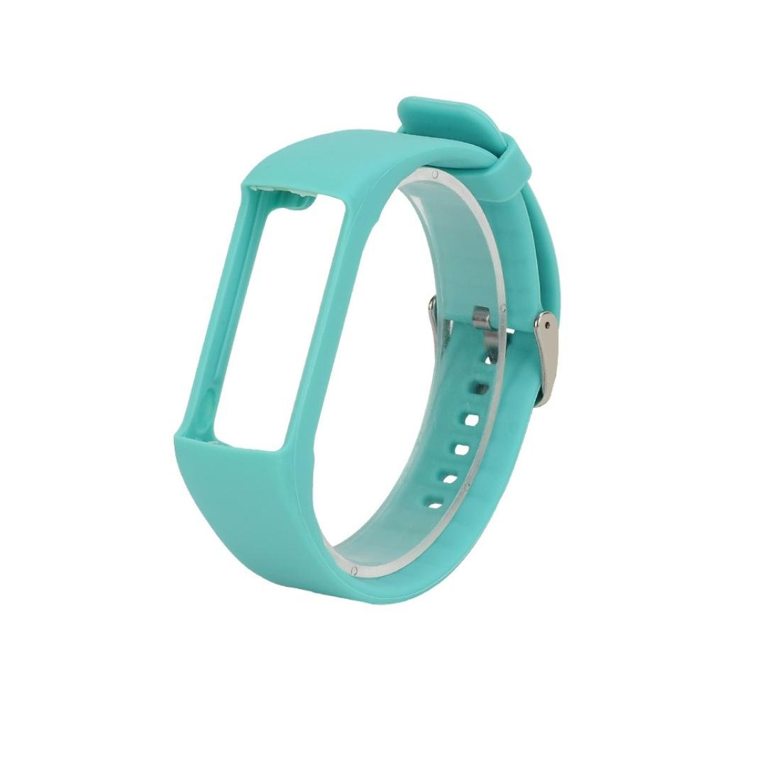 Unisex Fashion Genuine Silicone Rubber Watch Band Wrist Strap, Ninasill Exclusive For Polar A360 Smart Watch Watch Strap (Light Blue)