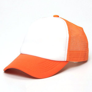 wholesale plain blank yellow black white blue orange red green pink trucker caps mesh trucker hats