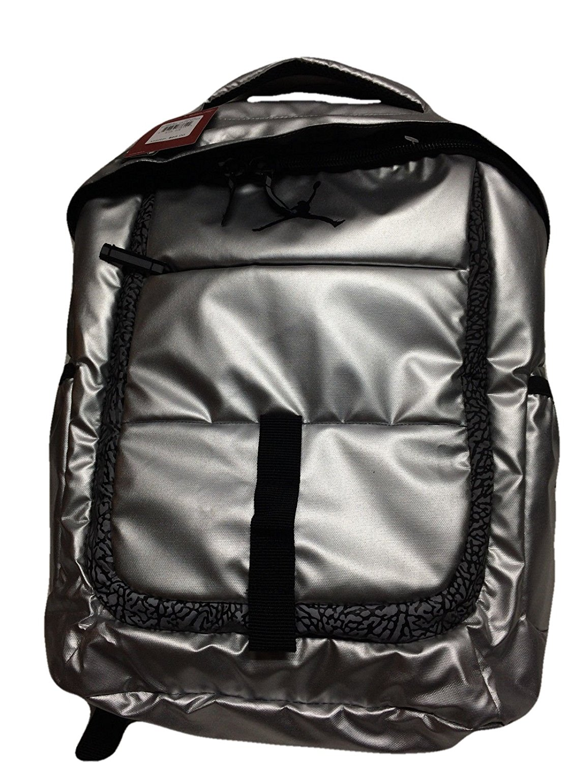 b17e599cb66 Get Quotations · Nike Air Jordan Silver Laptop Backpack Bag for Men, Women  and Boys