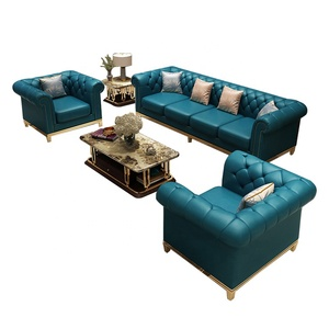 New design Living Room Home Furniture Genuine Leather Big Couch 7 Seater Sofa Sectional Combination Arc Sofa Set Corner sofa