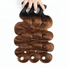 Hot Selling Mixed Color Remy Hair Weave Extensions, Body Wave Ombre Color Hair, Two Color Hair Extension